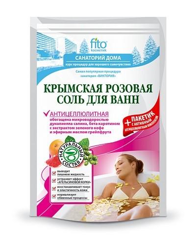 """Fitokosmetik sól do kąpieli krymska różowa """"przeciwcellulitowa"""" 500 g+30"""