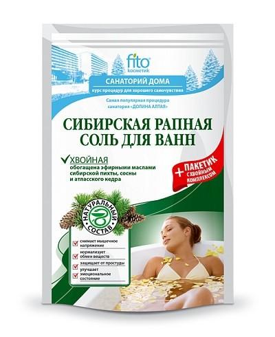 """Fitokosmetik - sól rappa do kąpieli syberyjska """"iglasta"""" 500 g+30"""