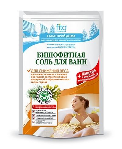 """Fitokosmetik sól do kąpieli biszofitu """"dla zniżenia wagi"""" 500 g+30"""