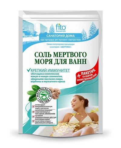 """Fitokosmetik sól do kąpieli z morza martwego """"mocny imunitet"""" 500 g+30"""