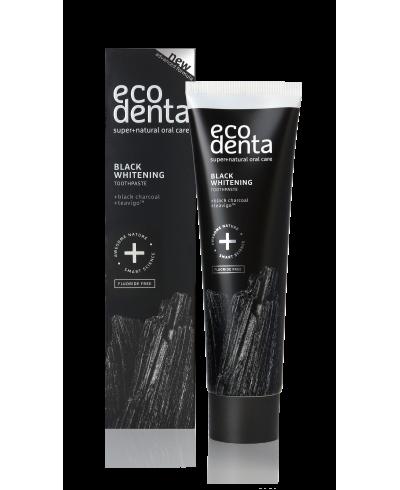 ECODENTA EXPERT LINE Czarna pasta do zębów wybielająca z węglem drzewnym i TEAVIGO, 100ml