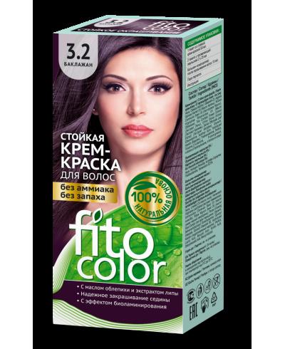 Trwała krem farba do włosów Fitocolor 3.2 odcień Bakłażan