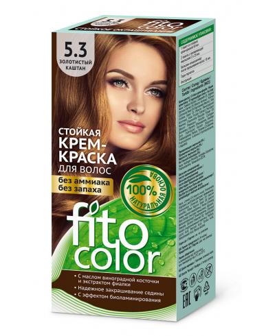 Trwała krem farba do włosów Fitocolor 5.3 odcień Złoty kasztan