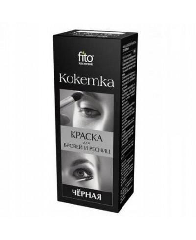 """Fitokosmetik - farba do rzęs i brwi """"kokietka"""" czarna 5 g"""