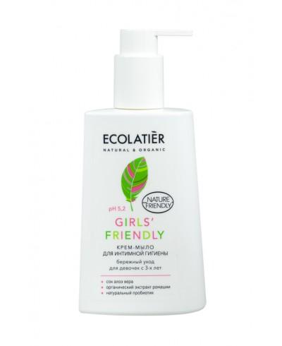 Ecolatier Intimate Krem-mydło do higieny intymnej dla dziewczynek od 3 roku życia, 250 ml