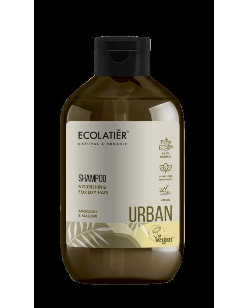 Ecolatier Urban Szampon do włosów suchych Odżywczy Awokado i malwa, 600 ml