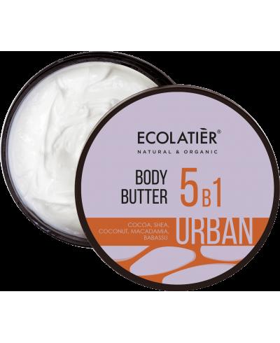Ecolatier Urban Masło do ciała 5w1 Kakao, shea, kokos, makadamia, babassu, 380 ml