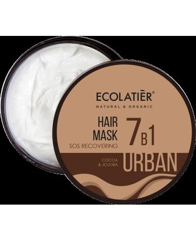 Ecolatier Urban Regenerująca maska do włosów 7w1 Kakao i jojoba, 380 ml