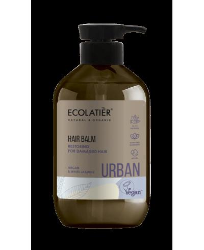 Ecolatier Urban Odbudowujący balsam do włosów zniszczonych Argana i biały jaśmin, 400 ml