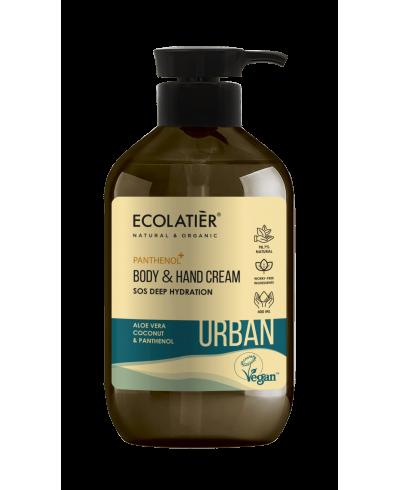 Ecolatier Urban Nawilżający krem do ciała i rąk Aloes i kokos, 400 ml