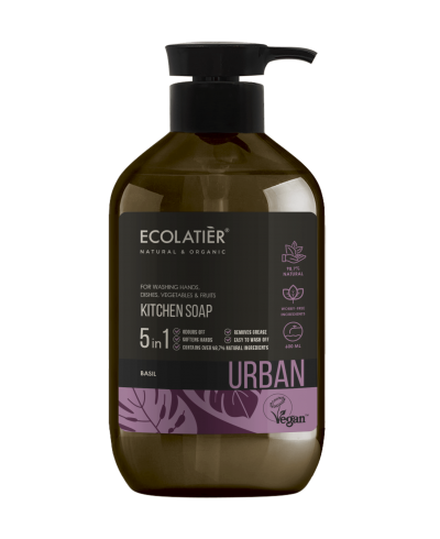Ecolatier Urban Mydło w płynie Bazylia, 600 ml