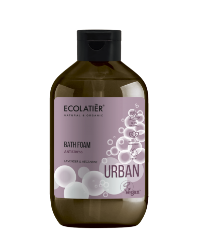 Ecolatier Urban Pianka do kąpieli Antistress Lawenda i nektarynka, 600 ml