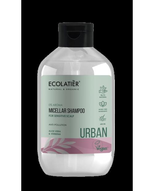 Ecolatier Urban Micelarny szampon do skóry wrażliwej Aloes i werbena, 600 ml