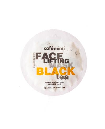 Cafe Mimi Maseczka-scrub do twarzy Czarna herbata & Trawa cytrynowa, 10 ml