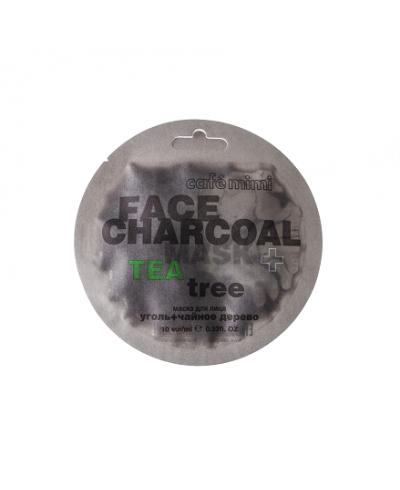 Cafe Mimi Maseczka do twarzy Bambusowy węgiel & Drzewo herbaciane, 10 ml