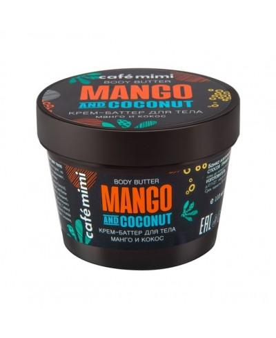CAFE MIMI Krem-masło do ciała Mango i kokos, 110 ml