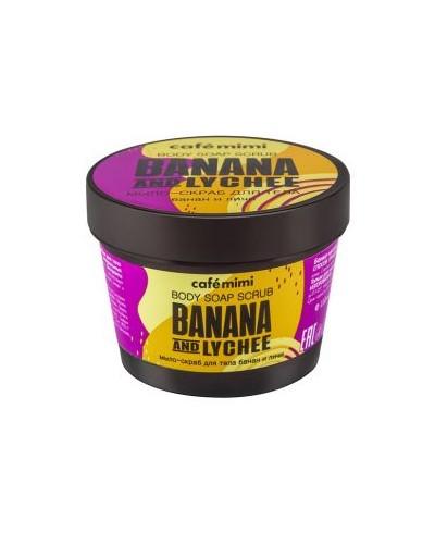 CAFE MIMI Mydło-scrub do ciała Banan i liczi, 110 ml
