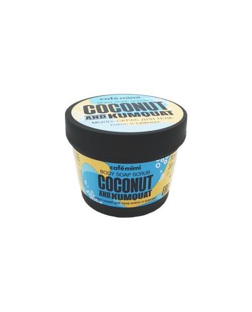 CAFE MIMI Mydło-scrub do ciała Kokos i kumwat, 110 ml