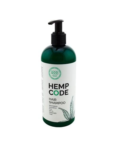 Good Mood Odbudowujący szampon do włosów z olejem konopnym, 400 ml