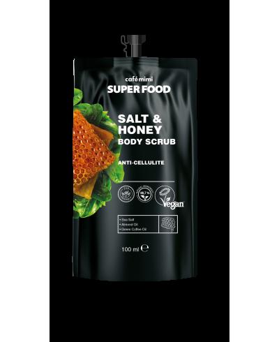 CAFE MIMI SUPER FOOD Scrub do ciała Sól i miód, 100 ml