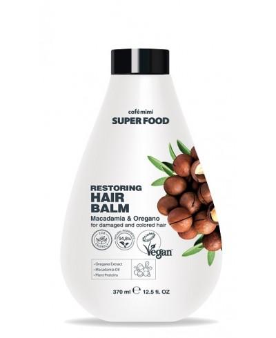CAFE MIMI SUPER FOOD Balsam do włosów Makadamia I Oregano, 370ml