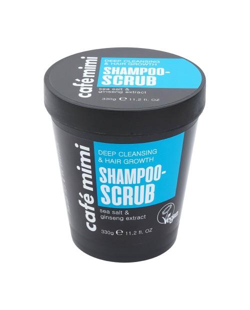CAFE MIMI Szampon – scrub Głębokie oczyszczenie i wzrost włosów, 330 g