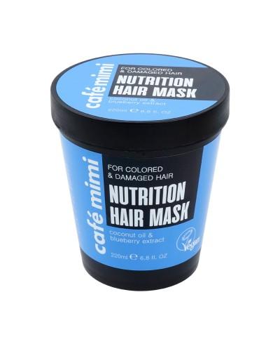 CAFE MIMI Maska do włosów zniszczonych i farbowanych Odżywienie i regeneracja, 220 ml
