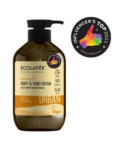 Ecolatier Urban Odżywczy krem do ciała i rąk Marula, orzechy kukui i pantenol, 400 ml