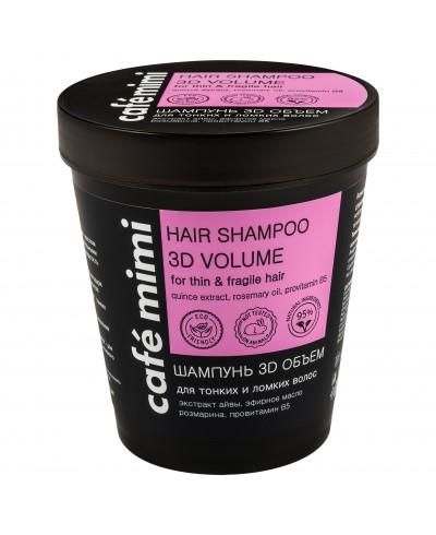 CAFE MIMI Szampon do włosów cienkich i łamliwych 3D objętość, 220 ml