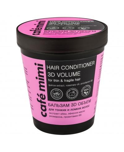 CAFE MIMI Balsam do włosów cienkich i łamliwych 3D objętość, 220 ml