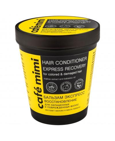 CAFE MIMI Balsam do włosów farbowanych i zniszczonych Ekspres regeneracja, 220 ml