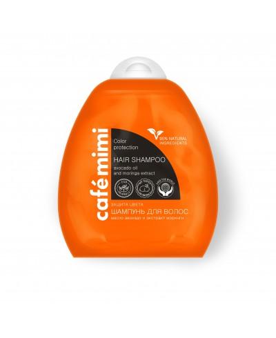 CAFE MIMI Szampon do włosów Ochrona koloru i blask, 250ml