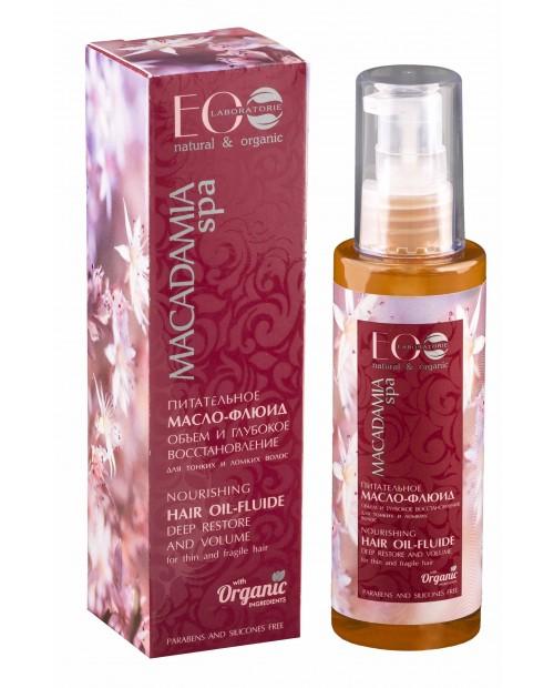 EOlab Macadamia Spa Odżywczy olejek – fluid do włosów Objętość i głęboka regeneracja, 100 ml