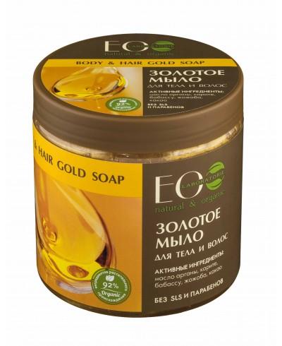 EOLab Złote mydło do ciała i włosów, 450ml