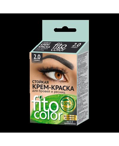 FITOCOLOR 2.0 Farba do brwi i rzęs, kolor czarny, 2x2ml