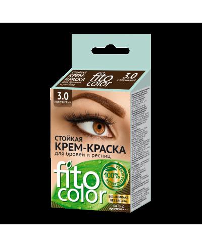 FITOCOLOR Farba do brwi i rzęs, kolor brązowy, 2x2ml