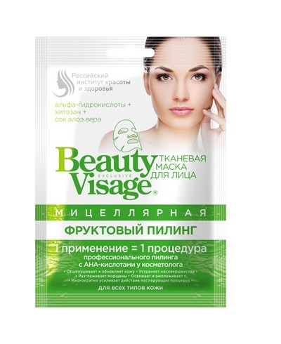 """BV Micelarna maska do twarzy w płachcie """"Owocowy peeling"""" z serii """"Beauty Visage"""", 25 ml"""