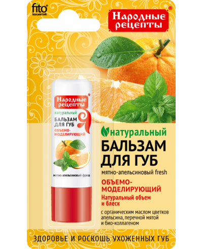 """Balsam do ust """"Miętowo-Pomarańczowy Fresh"""" z linii Przepisy ludowe 4,5g"""