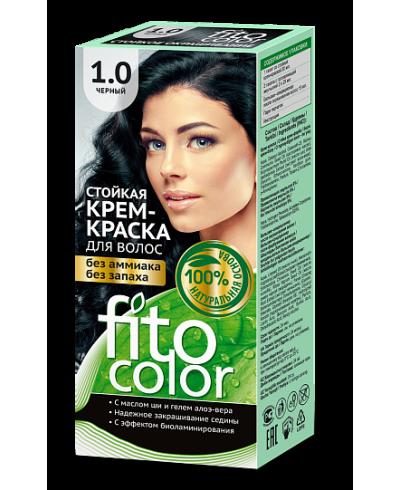 Trwała krem farba do włosów Fitocolor 1.0 odcień Czarna