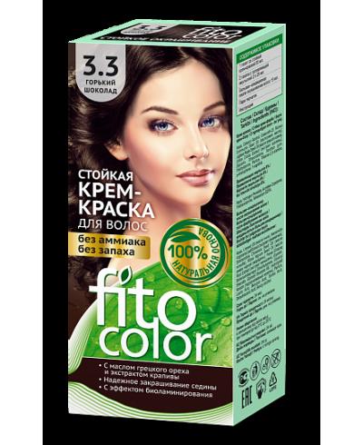 Trwała krem farba do włosów Fitocolor 3.3 odcień Gorzka czekolada