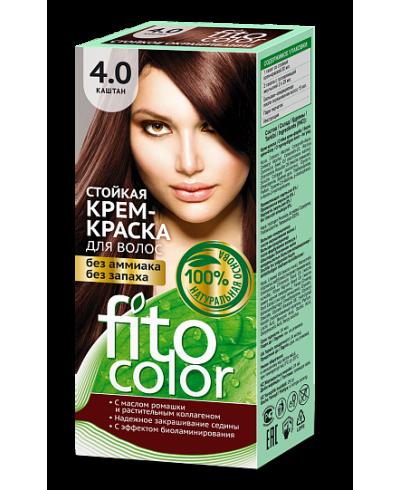 Trwała krem farba do włosów Fitocolor 4.0 odcień Kasztan