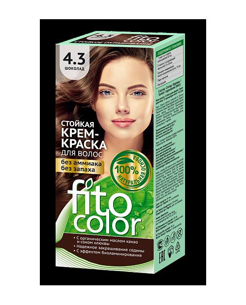 Trwała krem farba do włosów Fitocolor 4.3 odcień Czekolada