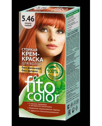 Trwała krem farba do włosów Fitocolor 5.46 odcień Miedzianno rudy