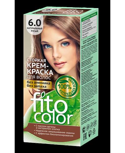 Trwała krem farba do włosów Fitocolor 6.0 odcień Naturalny jasny brąy