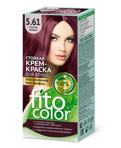 Trwała krem farba do włosów Fitocolor 5.61 odcień Dojrzała wiśnia