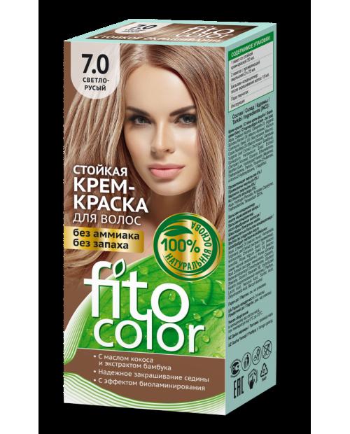 Trwała krem farba do włosów Fitocolor 7.0 odcień Jasno rudy