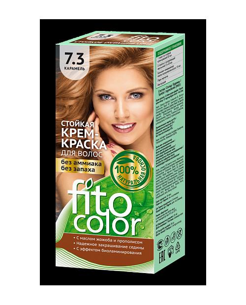 Trwała krem farba do włosów Fitocolor 7.3 odcieć Karmel