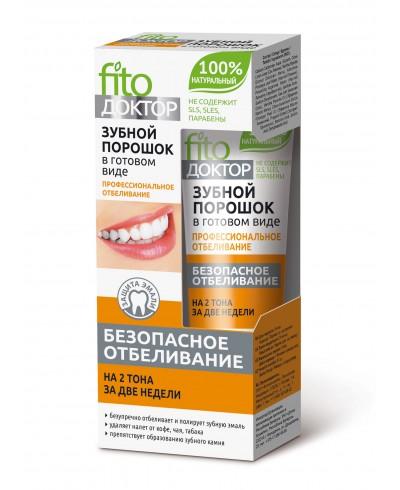 Proszek do zębów w gotowej formie PROFESJONALNE WYBIELANIE FITO DOKTOR