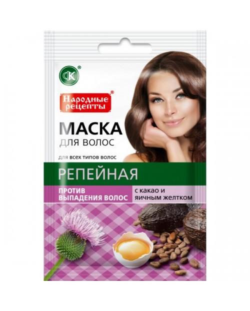 """FK maska do wł.""""łopianowa z kakao i żółtkiem"""" przeciw wypad. 30 ml"""