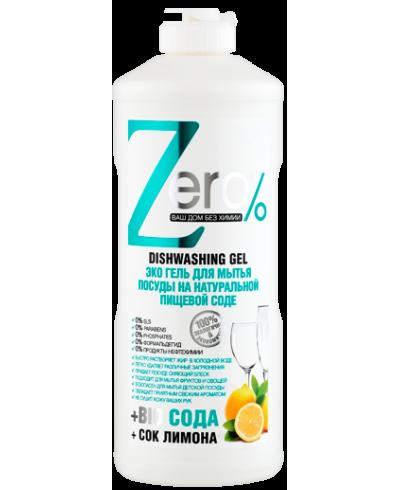 ZERO Żel do mycia naczyń na bazie naturalnej sody oczyszczonej 500 ml